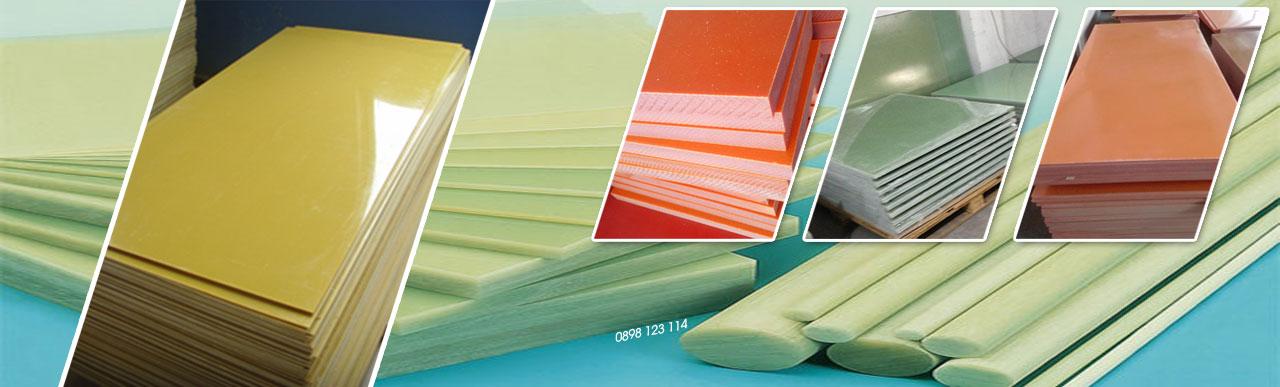 Tấm Phíp nhựa Bakelite Vàng, Cam, Đen, Xanh ngọc