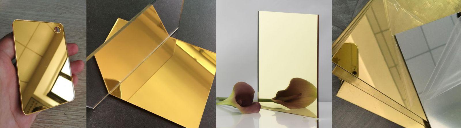 Tấm nhựa mica gương vàng đồng