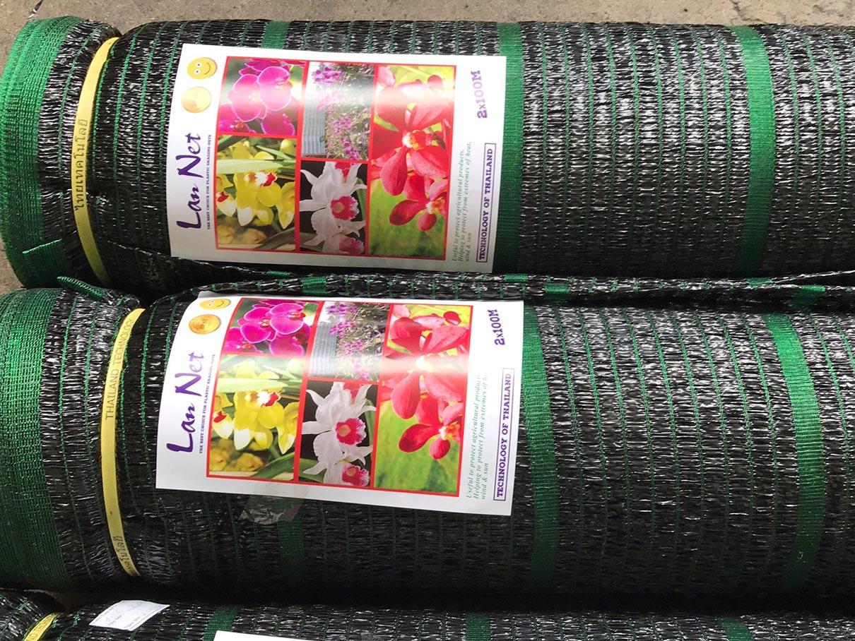 Lưới che nắng Thái Lan sợi dẹt chống Uv 50% / 60% / 70%