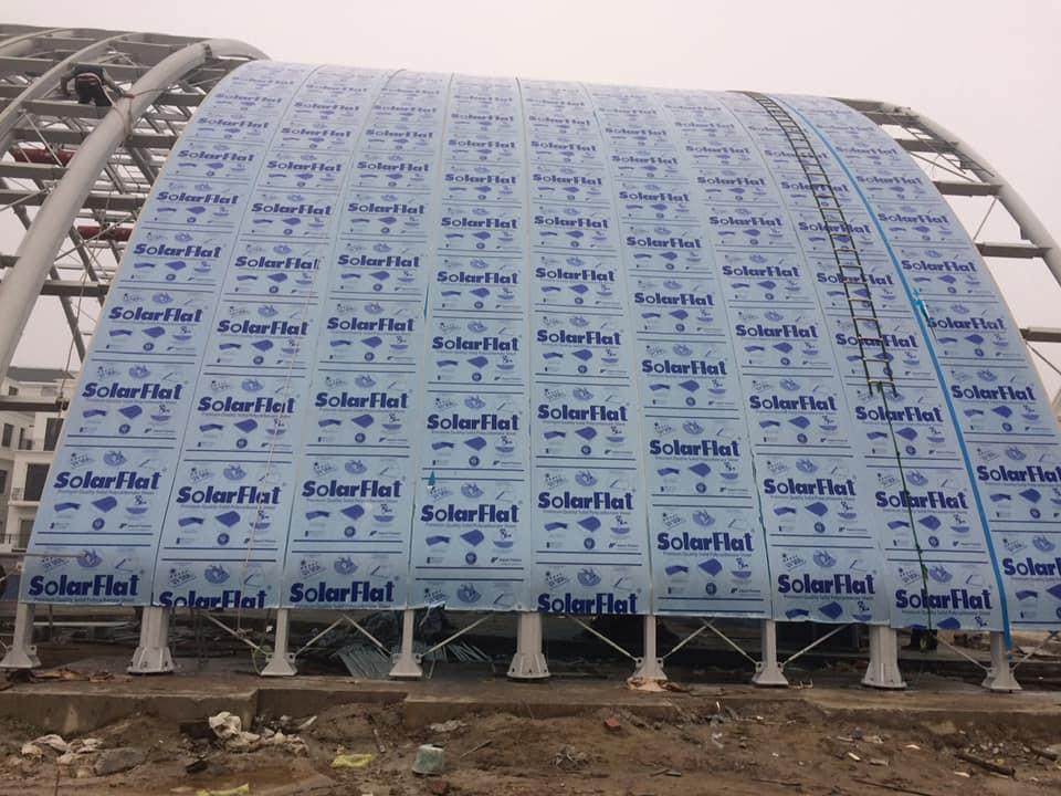 Công trình mái lợp polycarbonate cho mái vòm